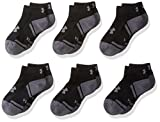 Under Armour Boys Resistor III Lo Cut Socks (6 Pack), Black/Graphite, Youth Large