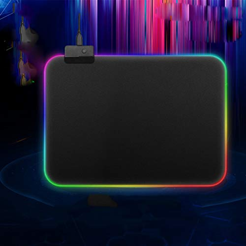 LtrottedJ PC Laptop RGB Large Colorful LED Lighting Keyboard Mat Gaming Mouse Pad for Computer (S)