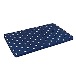 KidKraft Austin Toy Box Cushion, White/Navy Stars (Discontinued by manufacturer)