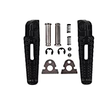 TCMT Black Rear Foot Pegs Motorcycle Footpeg Footrest Bracket Set For Suzuki GSXR600 GSXR 600 2006 2007 2008 2009 2010 2011 2012 2013 2014