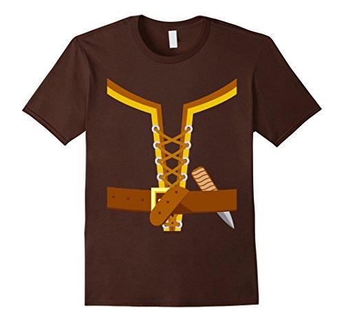 Mens Viking Costume Shirt Halloween Large Brown -
