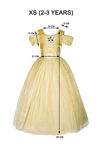 Princess Ball Gown (XS 2-3 years, Yell .