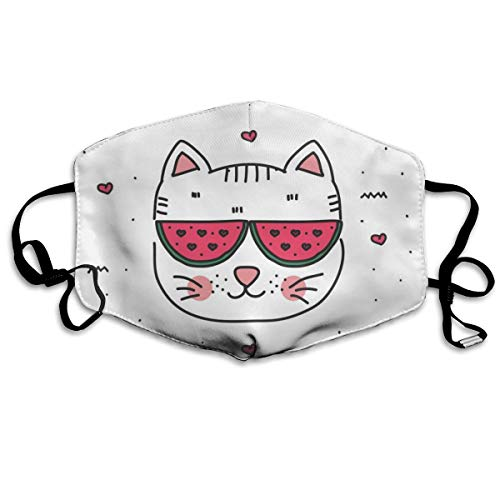 Thuth Doodle-cat-Vector Dust-Proof Washable Mask - Reusable Mask - Suitable for Men and Women's Masks (Vector Gas Mask)