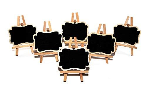 6 Pack Mini Chalkboard Easels -