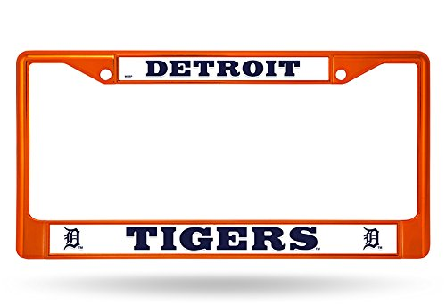 (Rico Industries MLB DETROIT TIGERS COLORED ORANGE CHROME LICENSE PLATE FRAME)