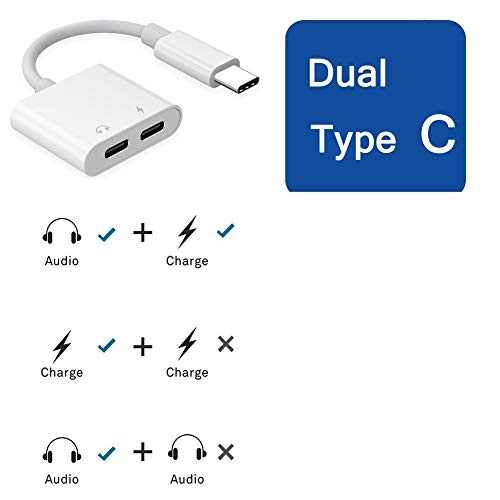 AD ADTRIP Dual Audio and Charger Adapter Headphone Jack Adapter 2 in