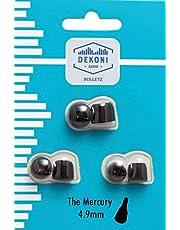 Dekoni Audio Moldable Foam Ear Tips Premium Memory Foam Isolation Earphone Tips - 4.9mm 3 Pack SM MED Lrg Sample Pack Black (EPZ-MERCURY-PL)