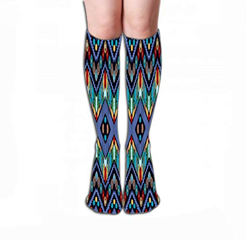 Xunulyn Women Knee High Socks Novelty Compression Socks 19.7