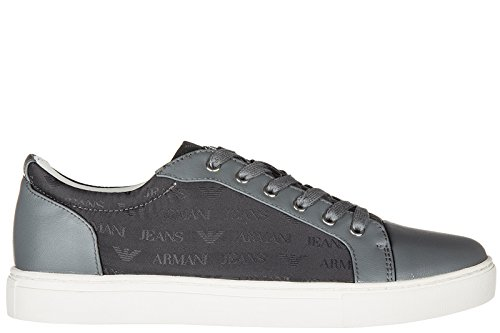 Armani Jeans chaussures baskets sneakers homme gris