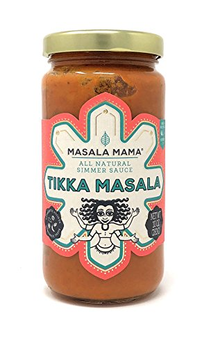 Masala Mama Authentic Tikka Masala Simmer Sauce - Natural & Delicious Traditional Indian Butter Chicken Sauce For Tasty Asian Recipes - Organic Spices & Healthy Ingredients, No Preservatives - 10 oz ()