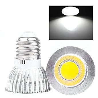 Bombillas LED de 6W GU10 E27 de intensidad regulable Foco reflector de COB caliente, Bombillas de luz de LED COB ultra brillantes Super largas 50,000 horas: ...