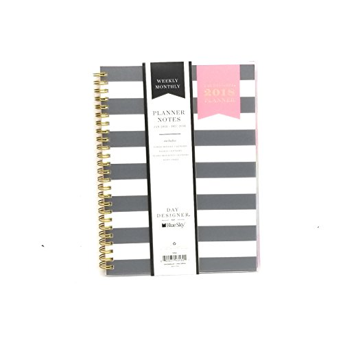 2018 WEEKLY/MONTHLY FROSTED COVER PLANNER by DAY DESIGNER for BLUE SKY /SIZE 6'' X - Reduced Designer