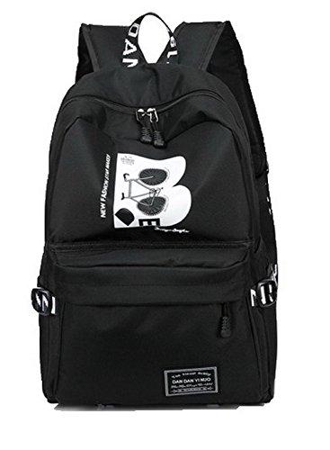 Daypack AllhqFashion Femme Soie randonnée Sacs Daypacks à Noir dos de Matériel de FBUFBD181002 qvRAHxw41q