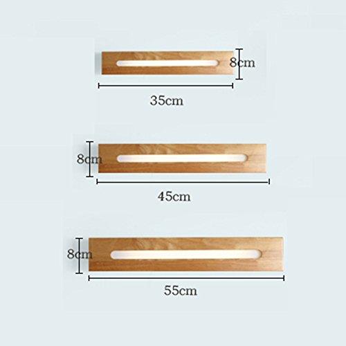 LI LU SHOP LED Solid Wood Staircase Aisle Wall Lamp Bathroom Mirror Front Light (Color : A-white light, Size : 45cm) by LI LU SHOP (Image #2)