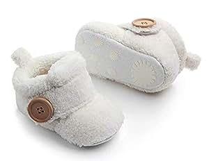 MOCHO AM Zapatos de Bebé de Invierno, Botines, Recién Nacidos Botas de Bebé, Zapatos Calientes, 3-18 Meses: Amazon.es: Bebé