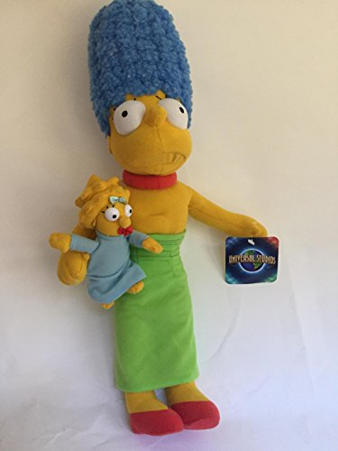 Universal Studios Simpsons Marge Holding Maggie Green Blue Dress Doll Toy (Simpsons Universal Studios)