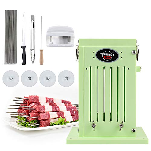 TRUERIEY BBQ Accessories Kabob Skewers Maker with Stainless Steel Skewers, Meat Tenderizer Tool, Kitchen Food Tong for Barbecue, BBQ Grill, Shish Kebab