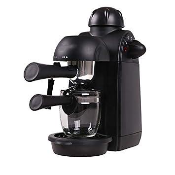 Cafetera/Máquina Automática Comercial Doméstica Pequeña Negro 800W / 220V / 0.24L Función Antigoteo Tipo De Vapor: Amazon.es: Hogar