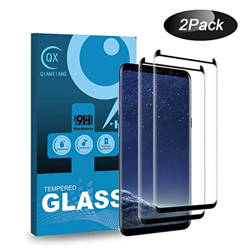 S8 Screen Protector,3D Curved HD Clear Tempered Glass XVN MD E [Anti-Bubble]