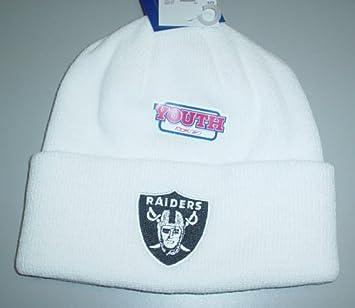 d7cebca5 Amazon.com : Oakland Raiders Cuffed Knit Reebok Hat - Youth (4 - 7 ...