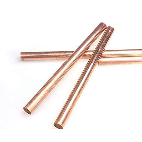 100mm Long 99.9/% Pure Copper T2 Cu Metal Rods Cylinder Assortment Kit Yodaoke 6pcs 3mm-8mm Dia