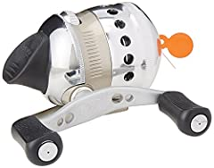 Serious spin casting performance. Casts like a dream. Stays smooth fish after fish, day after day. Features: - Pro-level spin cast performance- All-metal gears- Aircraft aluminum covers- Changeable right- or left-hand retrieve- Oscillating sp...