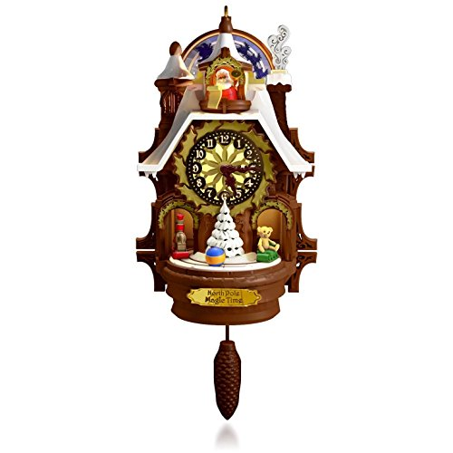 Hallmark QGO1367 Santa's Magic Cuckoo Clock Ornament (Sound Effes)