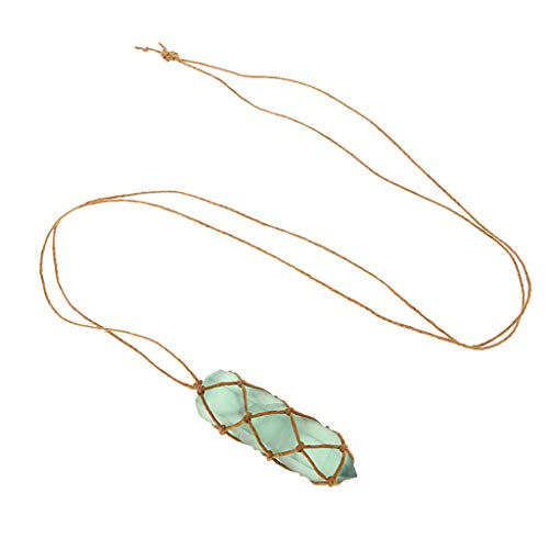 CUTICATE Natural Crystal Green Fluorite Pendant Stonr Necklace Jewelry DIY Art Crafts