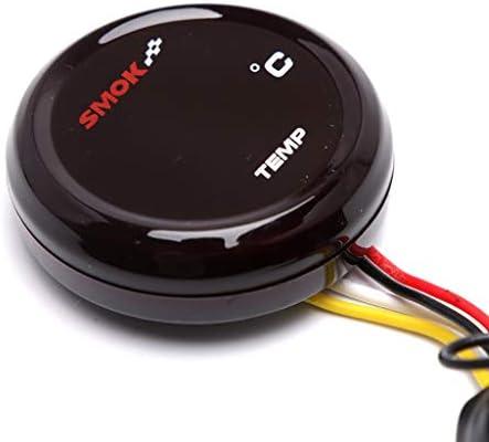 JIANGJINLAN Neue ultradünne runde Wassertemperaturanzeige Motorrad Universalthermometer for SMOK Instrument geändert Harley-Pedal (Color : KOSO red Light)