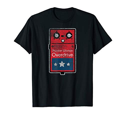 Funny Thunder Woman Overdrive Effect Pedal T-Shirt