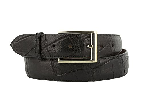 El Presidente - Men's Black Genuine Alligator Belly Skin Leather Western Cowboy Belt 44 by El Presidente (Image #6)