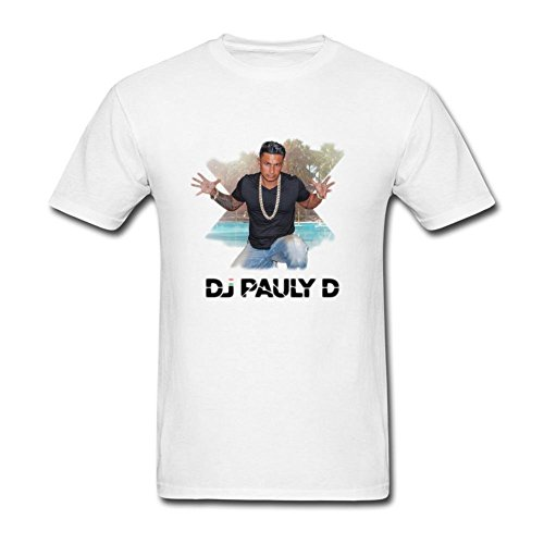 SUNRAIN Men's DJ Pauly D Poster T - Shore Pauly D Jersey Dj