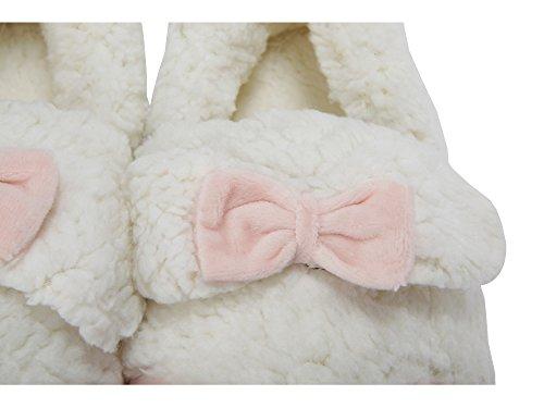 MiYang Winter Womens Sheep Warm Plush Soft Sole Indoor Slipper Lily Orange gKlWh