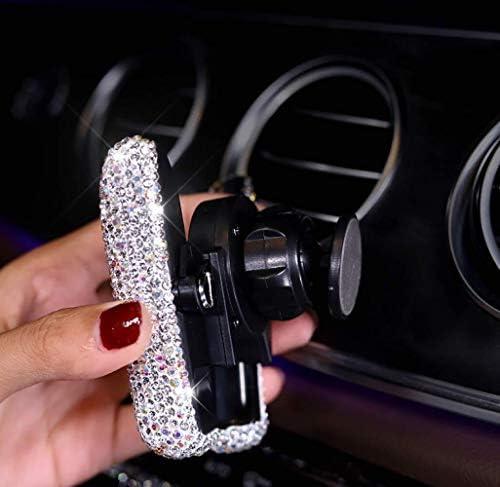 車のダイヤモンド自動車電話ホルダーカーホルダーカーナビゲーションステント素敵な女性の多機能ソケット