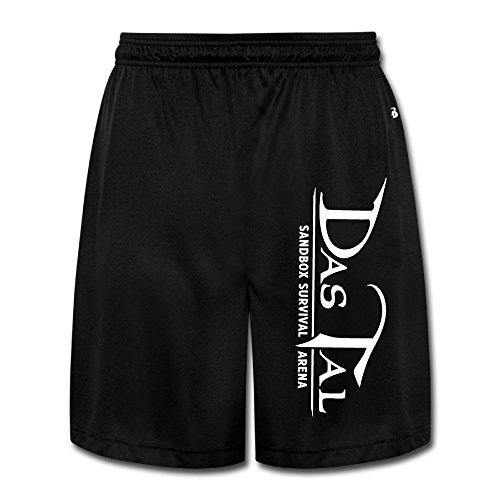 CEDAEI Das Tal Comfortable Mens Training Shorts Sport Sweatpants Black Half Pants