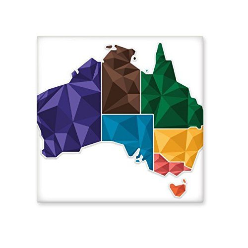 50%OFF Australia Map Territory and State Colorful Illustration Ceramic Bisque Tiles for Decorating Bathroom Decor Kitchen Ceramic Tiles Wall Tiles