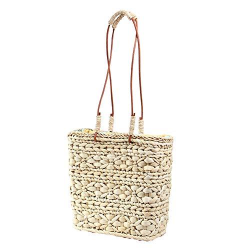 YJIUJIU Womens Straw Handbag Di Paglia Per I Viaggi In Spiaggia E L'uso Quotidiano