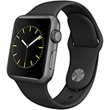 Apple Watch Series 1 (GPS, 42MM) - Space Gray Aluminum Case with Black Sport Band (Renewed)
