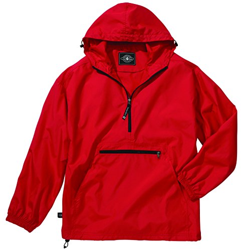 - Women's Ultra Light Pack-N-Go Pullover - Red, X-Large