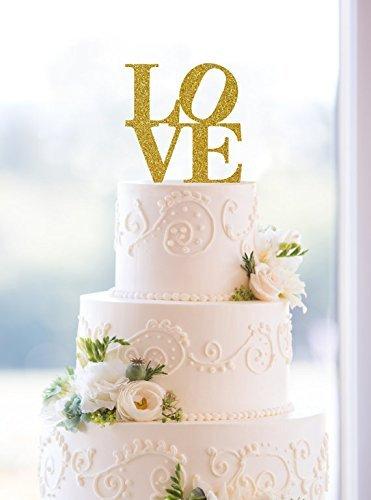 Glitter Philadelphia Love Cake Topper Custom Wedding Cake Topper Glitter