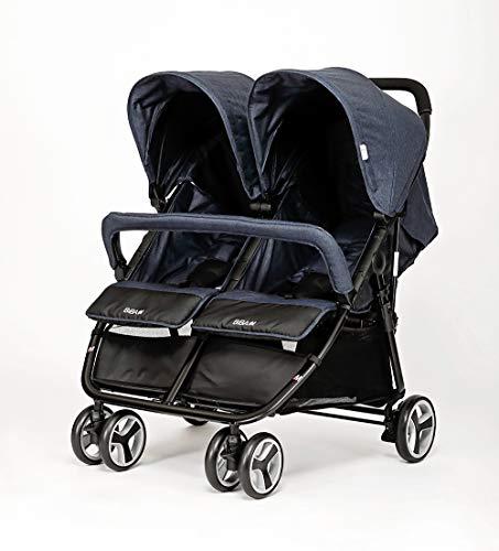 BIBA Double Stroller (Navy Blue) ()