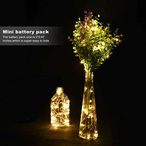 LEDIKON 24 Pack Fairy Lights Battery Operated,Warm White,LED String Lights, 7.2FT 20LEDs Battery String Lights, Waterproof Firefly Lights for Wedding Party Jars Crafts Christmas Home Decorations by LEDIKON (Image #5)