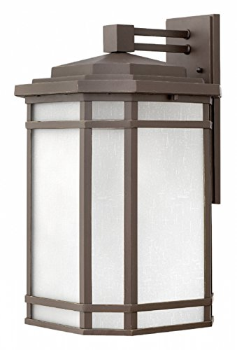 Hinkley 1275OZ-WH Cherry Creek Outdoor Wall Sconce, 1-Light 100 Watts, Oil Rubbed Bronze ()