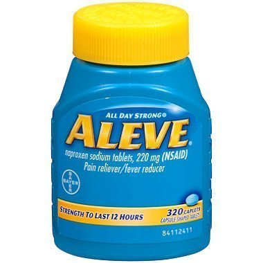 Day Pain Relief Caplets - Aleve ALL DAY Strong Pain/fever Reducer Naproxen Sodium Tablets , 220 Mg (Nsaid) - 320 Caplets by USA
