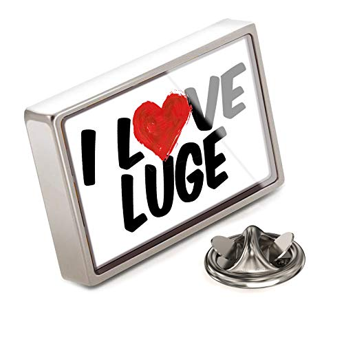 NEONBLOND Lapel Pin I Love Luge