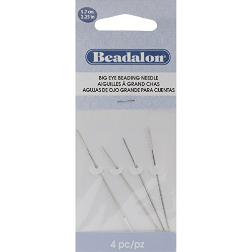 Big Eye Beading Needles 4/pkg-2.25'' by Beadalon