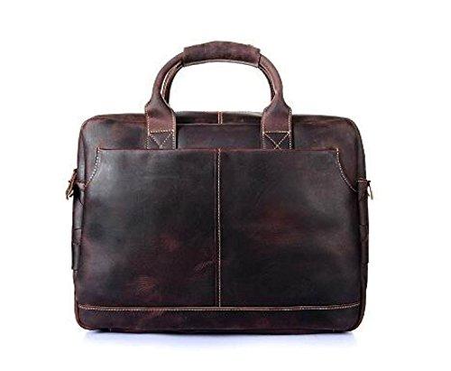Retro Crazy Horse Skin Bag Bolsa De Ordenador Bolso De Los Hombres De Cuero Maletín Messenger Bag B