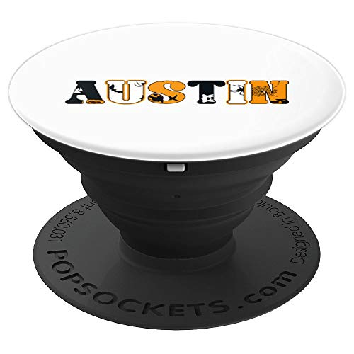 Austin Spooky Name Halloween Gift PopSockets Grip and