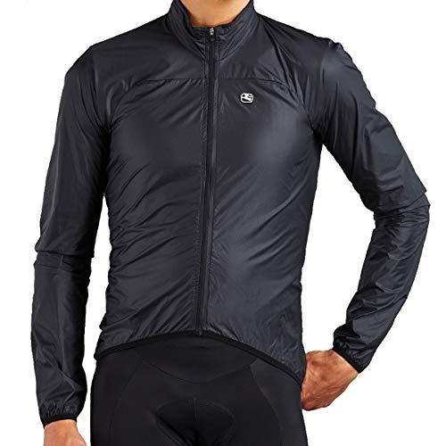 Giordana 2020 Men's Zephyr Wind Cycling Jacket - GICS19-JCKT-ZEPH (Black - M)