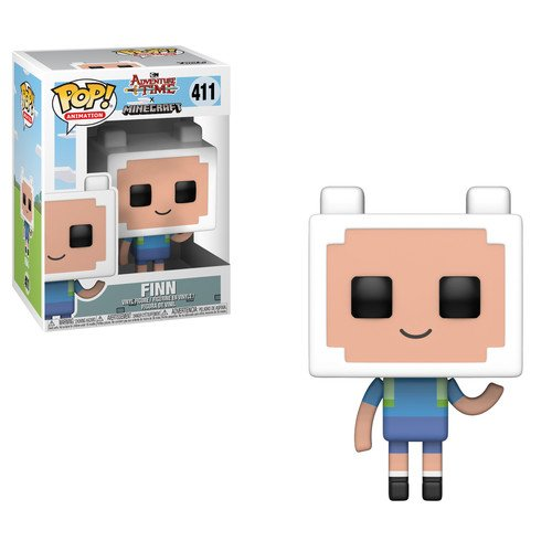 Time Pop - Funko Pop Television: Adventure Time-Minecraft Finn Collectible Figure, Multicolor